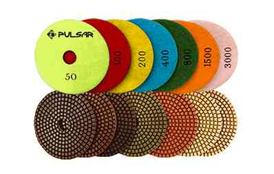 Pulsar 7 Step Wet Diamond Polishing Pads