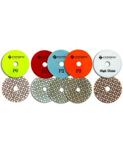 Pulsar Universal 5-Step Wet/Dry Diamond Polishing Pads