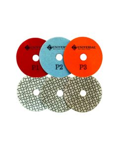 Pulsar Universal 3-Step Wet/Dry Diamond Polishing Pads
