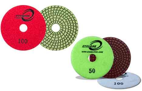 Cyclone 7 Step Wet Polishing Pads