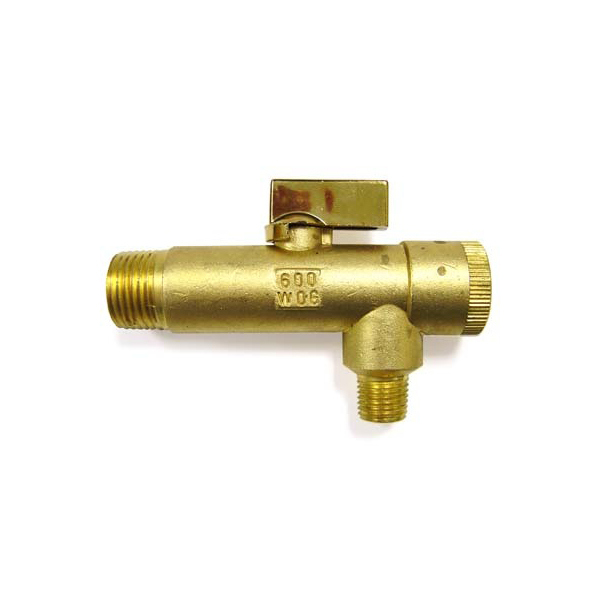"""Strainer Ball Valve BPS-5025 1/2""""inlet x 1/4""""outlet"""